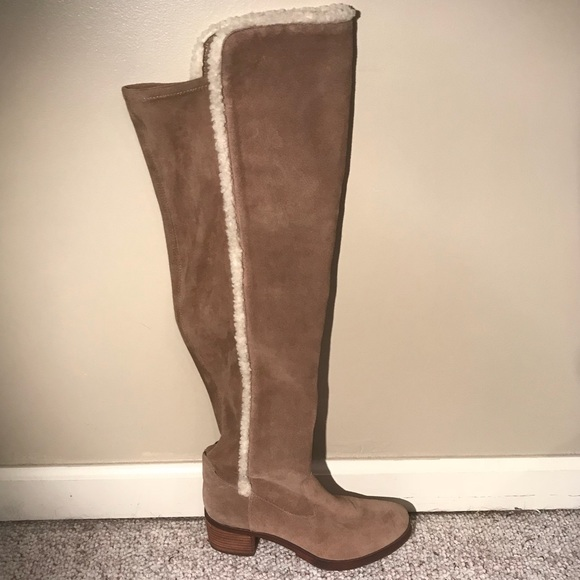 Vince Camuto Tall Suede And Shearling